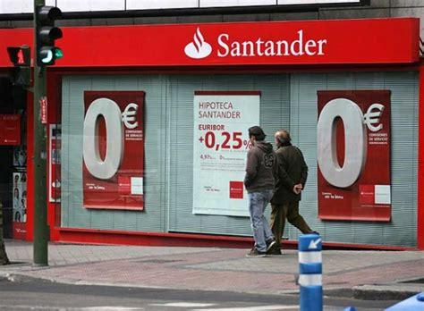 horario sucursales banco santander horario banco santander definanzas