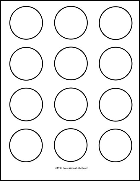 2 circle label template 2 inch circle template printable search results