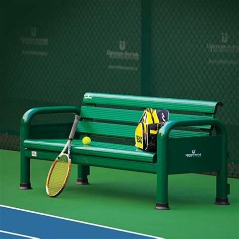 player benches tennis players bench tennis court seating net world sports