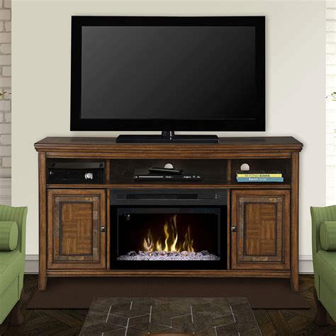Electric Fireplace Entertainment Center Lynbrook Cinnamon Electric Fireplace Entertainment Center W Glass Gds25gd 1410lb
