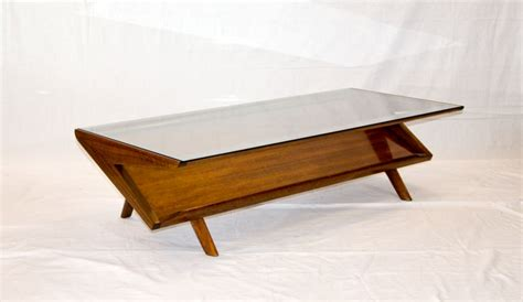 Coffee Tables Ideas: mid century glass coffee table design