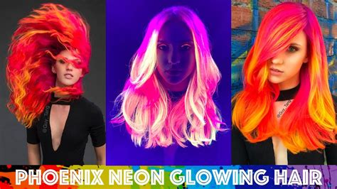 glow in the hair color neon glowing hair