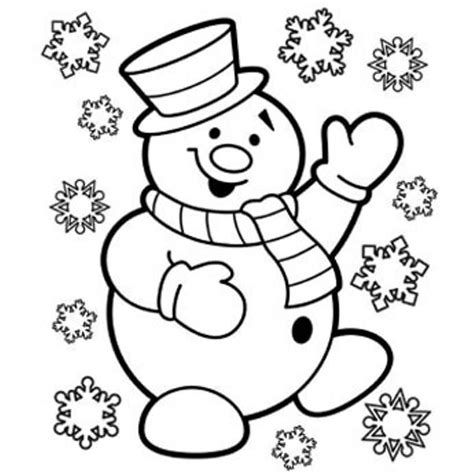 Christmas Coloring Pages Snowman Coloring Home Coloring Page Of Snowman