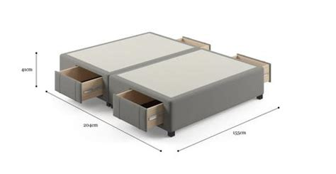 size upholstered bed frame base with storage drawers