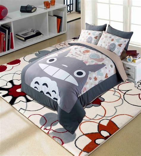 totoro bed sheets details about anime my neighbor totoro bedding set 4 pcs