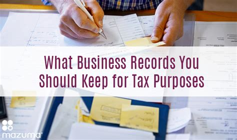 How To Keep Property Tax Records What Business Records You Should Keep For Tax Purposes Mazuma Business Accounting