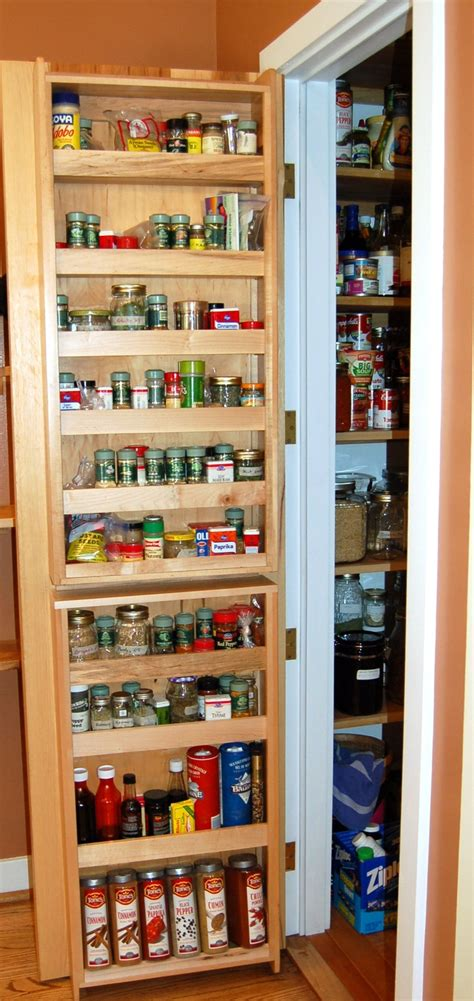 spice rack built into pantry door pantry