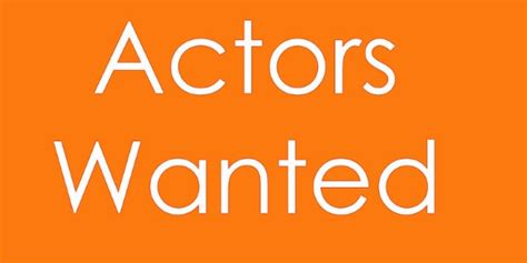 sparrow productions is looking for a actor who speaks both for a new