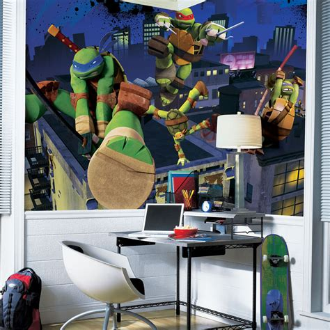 ninja turtle wallpaper for bedroom teenage mutant ninja turtles wall decals totally kids