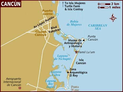 map cancun mexico map of cancun