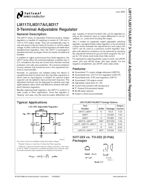 datasheet transistor lm317 lm317 datasheet pdf 1 11 mb national semiconductor pobierz z elenota pl