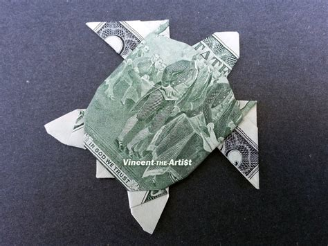 Single Dollar Bill Origami - beautiful money origami pieces many designs made of