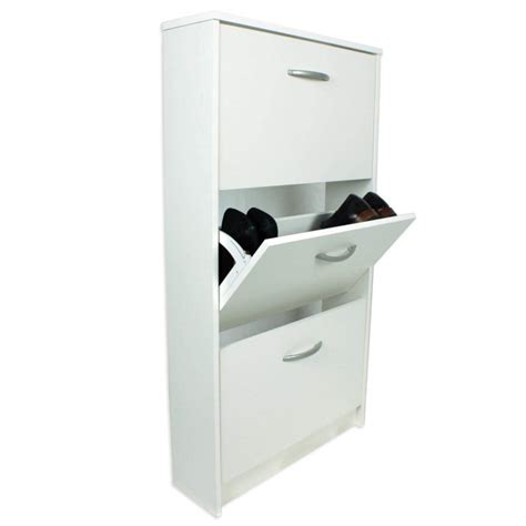 3 tier shoe cabinet designer 3 tier shoe cabinet in white 9 pairs furniture123