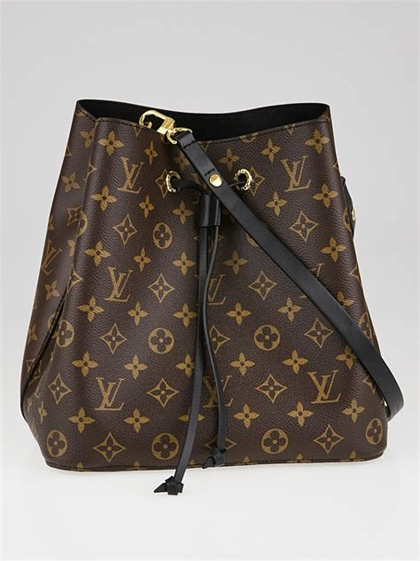 louis vuitton noir monogram canvas neonoe bag yoogis closet