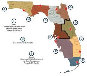 florida city map boundaries troop boundaries information florida highway safety