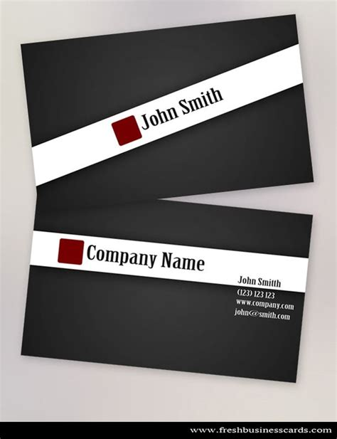 clean black stylish business card template available for