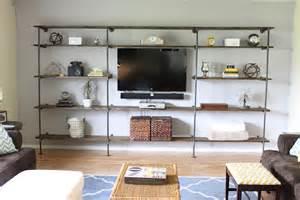 blue wooden wall shelves fairyland living room