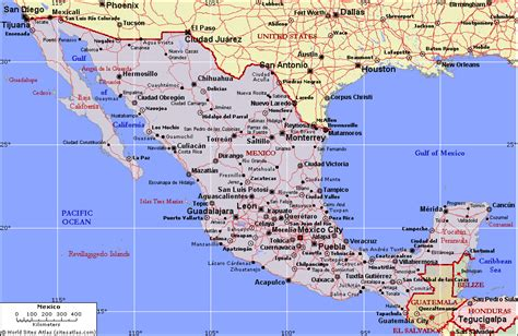map of the mexico map of mexico map state