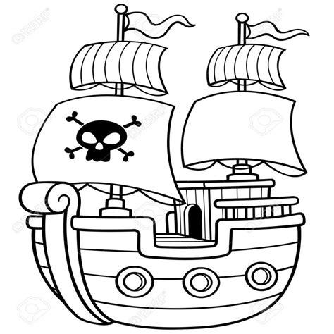15 dibujos de barcos piratas infantiles para colorear - Barcos Para Colorear De Piratas