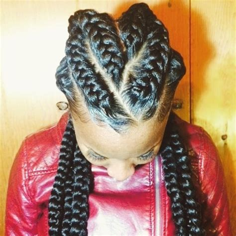 large cornrow hairstyles 8 big corn row styles we are loving on pinterest we