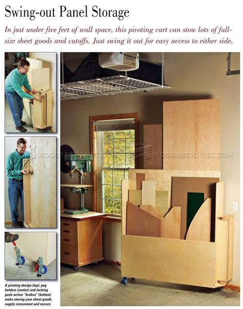 Swing Out Sheet Storage Plans Woodarchivist