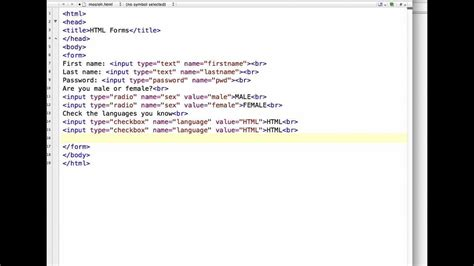design html code how to create a registration form in html youtube