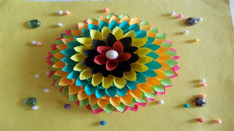 easy diy home decor ideas how to make wall decoration with paper summer crafts