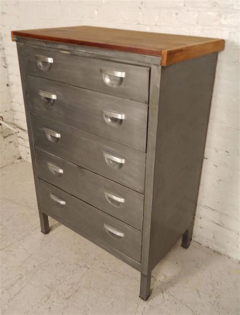 Metal Dressers For Sale by Mid Century Metal Dresser Refinished For Sale At 1stdibs