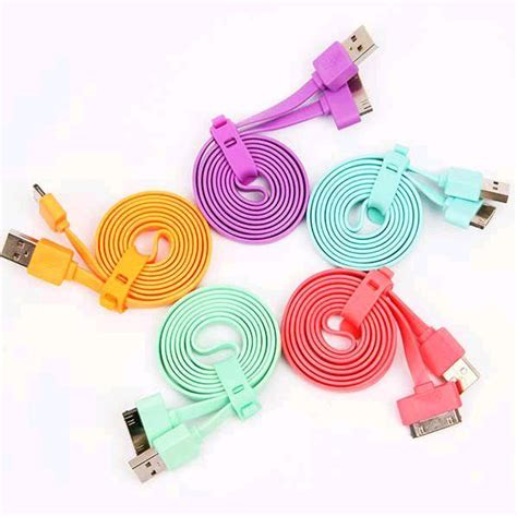 kabel flat usb data charger iphone vivan toko sigma