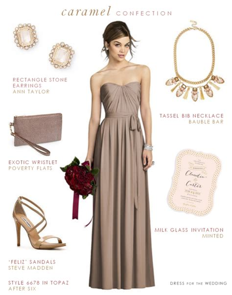taupe color dress taupe bridesmaid dress