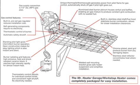 Mr Heater 40000 Btu Gas Garage Heater Mh40ng by Gas Heater For Garage Mr Heater Mh40ng Commercialheater