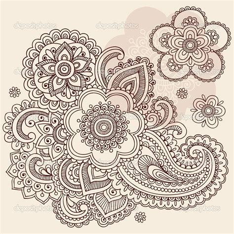 henna tattoo l g intricate design coloring pages paisley floral