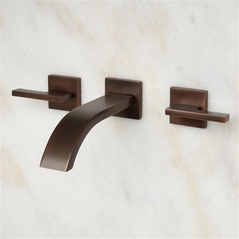 wall mounted bathtub fixtures ultra wall mount bathroom faucet lever handles wall