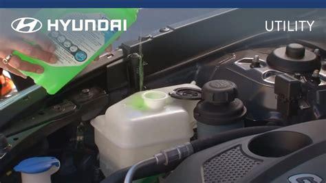 Water Hyundai I20 hyundai myhyundai how to check and fill coolant