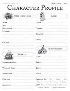 Character Profile Template Drama by Character Profile Worksheets Plays Vintage And