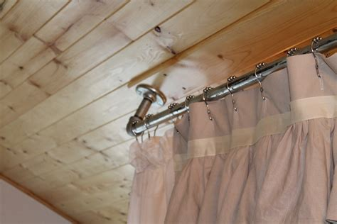 amazing hanging curtain rods from ceiling 6 shower
