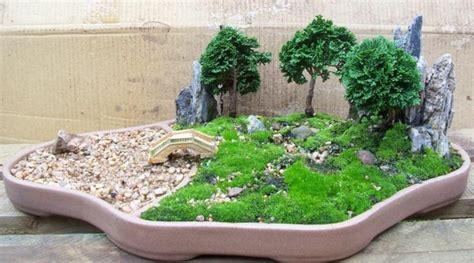 Impressionnant Petit Jardin Japonais Photo #1: mini-jardin-japonais-pierres-et-pont-bonsais-verts.jpg