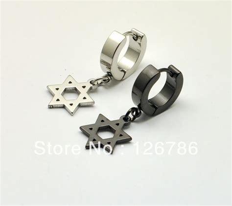 of david titanium steel ear buckle earrings no