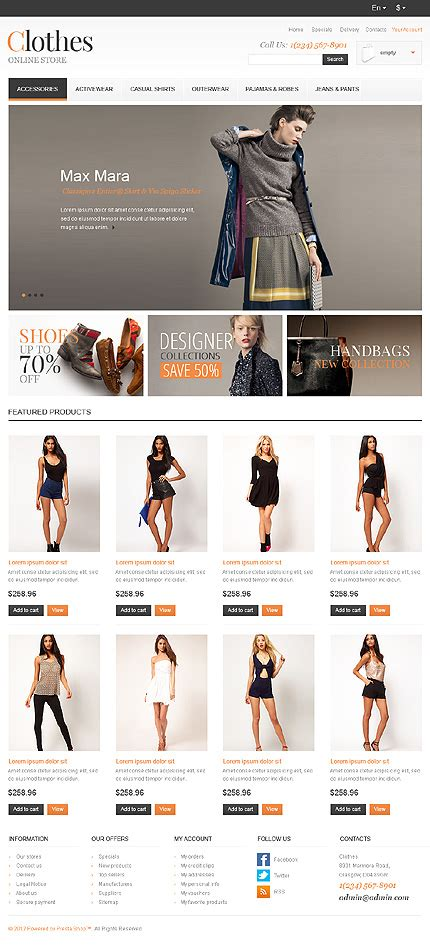 20 Best Ready Made Website Templates For Commerce Catch Your Success Clothing Brand Website Template
