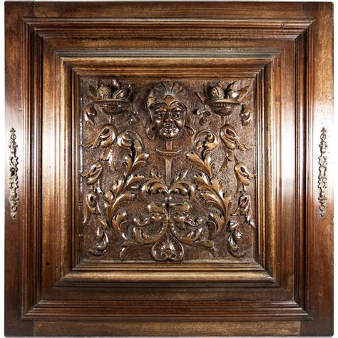 Carved Kitchen Cabinet Doors by Opulent Carved Antique Cabinet Door Plaque In Neo