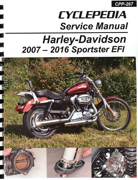 Harley Davidson Sportster Service Manual harley davidson sportster efi service manual 2007 2016