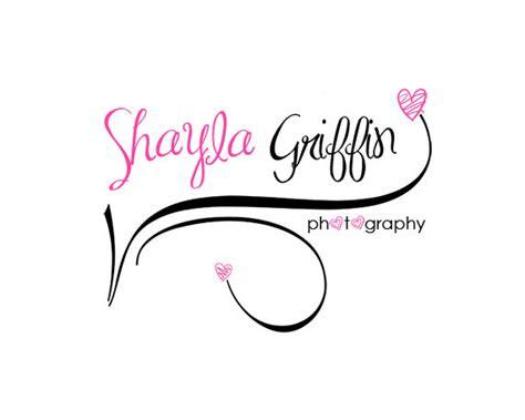 doodle logo design items similar to girly photography logo design premade