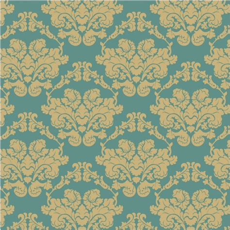 ornamental pattern ai blue and golden ornamental pattern background vector