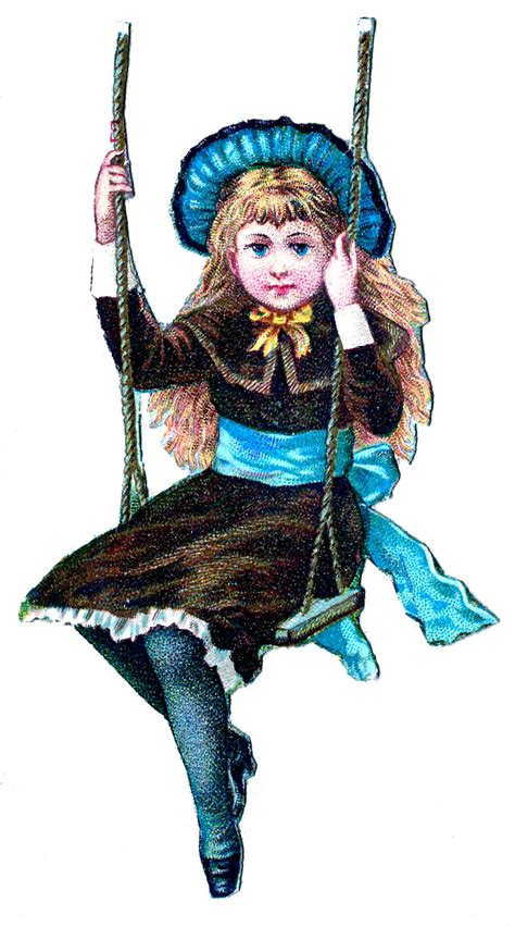 little girl art the graphics fairy llc vintage clip art little