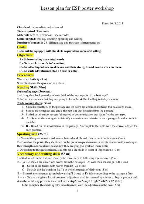 poster layout lesson plan esp lesson plan for the poster workshop