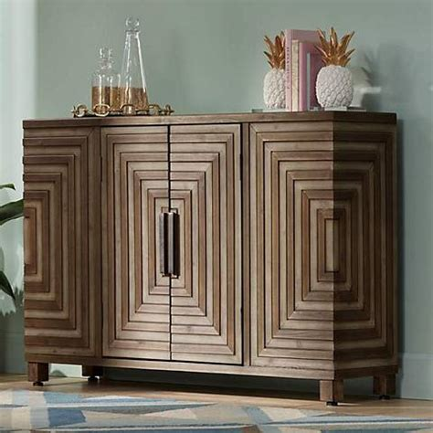uttermost layton rustic  door wood console cabinet