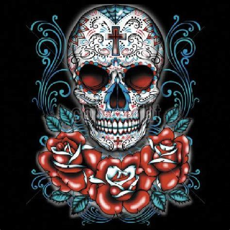 mexican skulls and roses sleeve 1381 best day of the dead sugar skulls images on