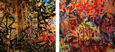 Marker Light Bathroom Graffiti On Canvas With Mint Amp Serf Brooklyn