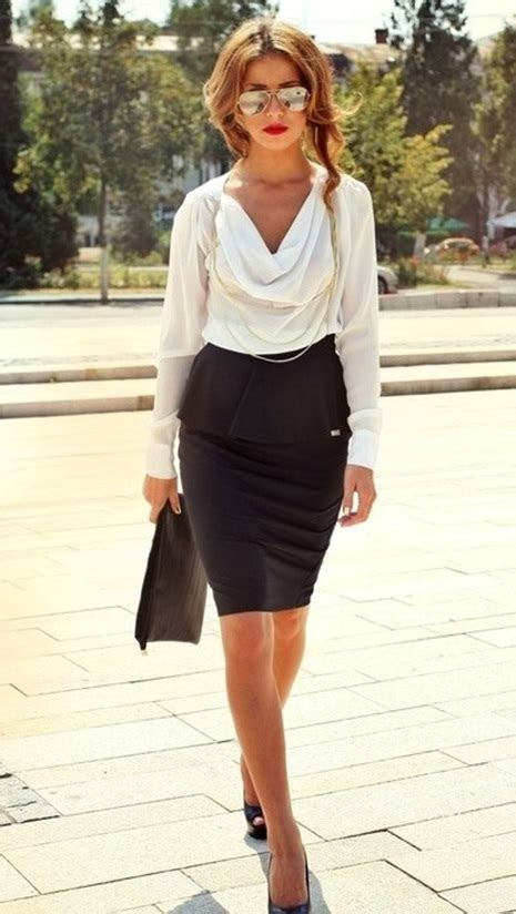 summer pencil skirt outfits  office  school mco