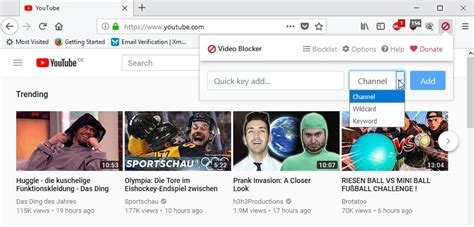youtube layout messed up firefox block youtube channels videos and comments with video